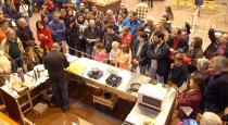 Demostracion micogastronomica realizada por Jesus Jimenez del Restaurante Cintora de El Royo (Soria)
